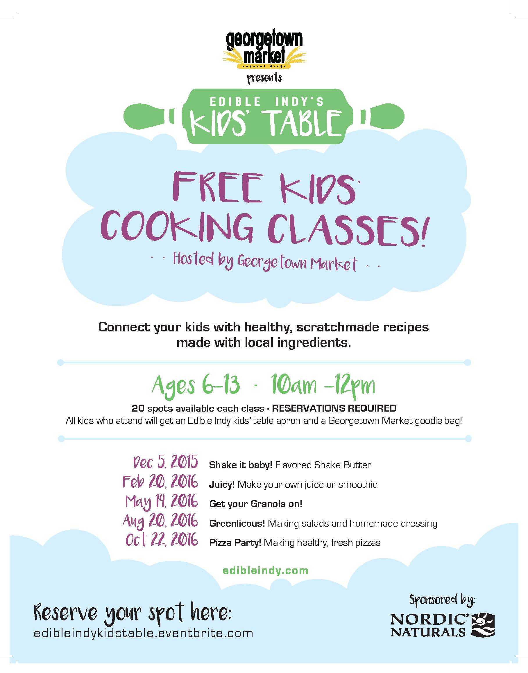 FREE Kids' Cooking Class - Edible Indy's Kids' Table