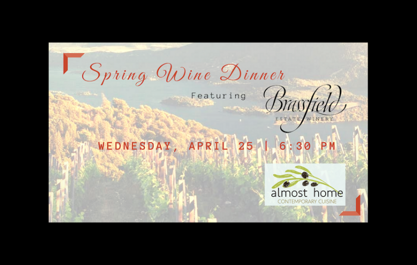 Spring Wine Dinner, Almost Home Cusinine