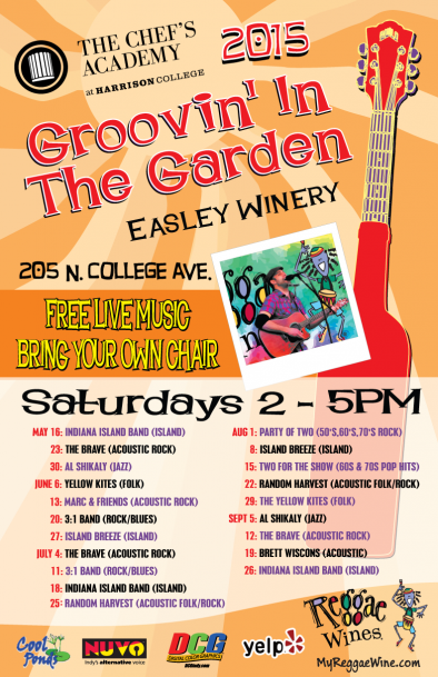 Groovin' in the Garden Schedule