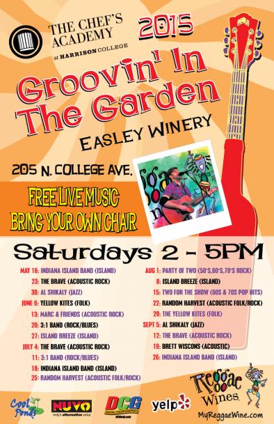 Groovin' in the Garden Schedule