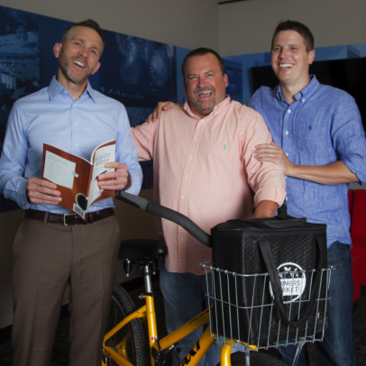 Indiana food start-up gurus Gerry Hayes, John Wechsler and Nick Carter, left to right