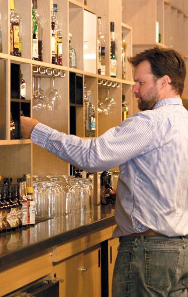 Owner Neal Brown Tending Bar