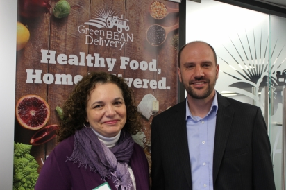 Matt Ewer, Founder of Green BEAN Delivery and Jennifer Vigran of Second Helpings'