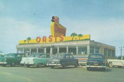 The Oasis Diner in the 50s.