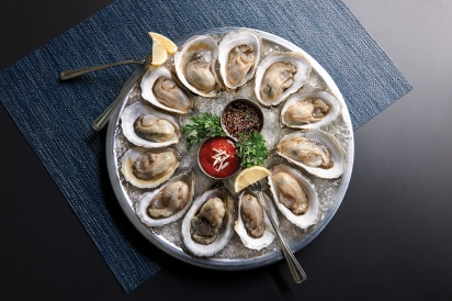 Oysters on a half shell.