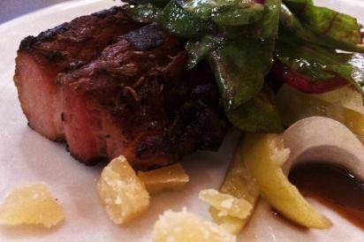 Pork Belly Salad with Gouda