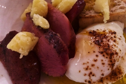 Maple Leaf Farm Duck Pastrami and Raclette