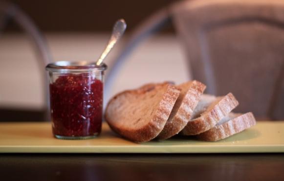 A Jar of Raspberry Vanilla Jam