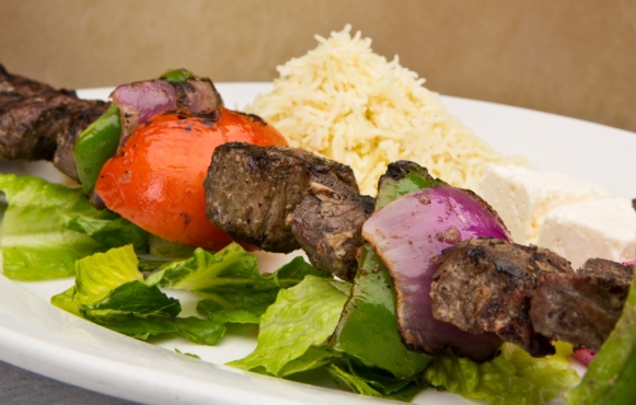 Canal Bistro in Broad Ripple serves us fresh Mediterranean eats.
