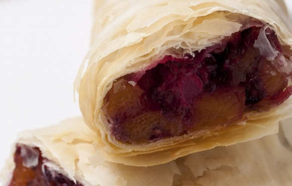 Apricot and Berry Strudel