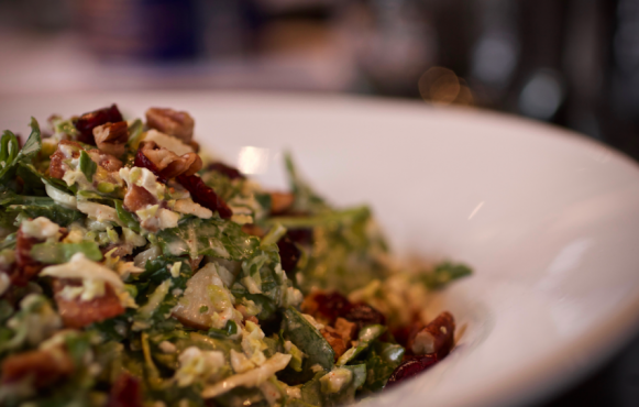 Brussels Sprouts and Kale Cobb Salad