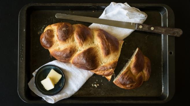 Traditional challah bread