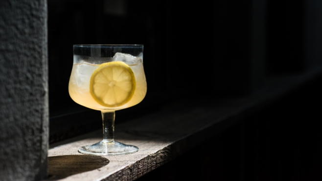 Upsy Daisy craft cocktail with lemon with St. Augustine Distillery Vodka