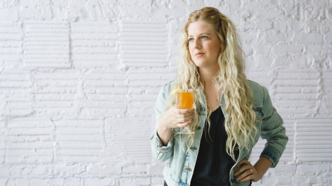 Erin Gibson with hot toddy