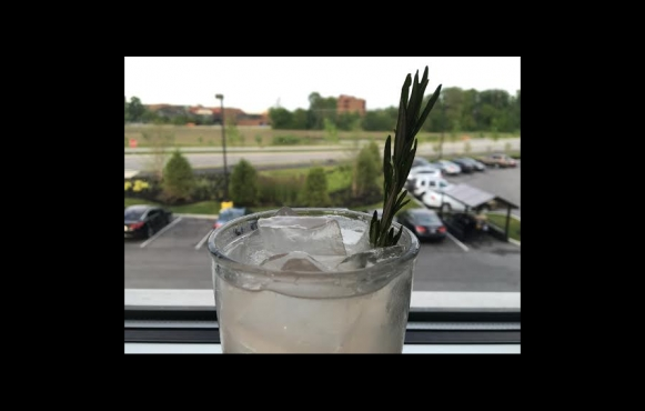 Peach Rosemary Shrub Cocktail