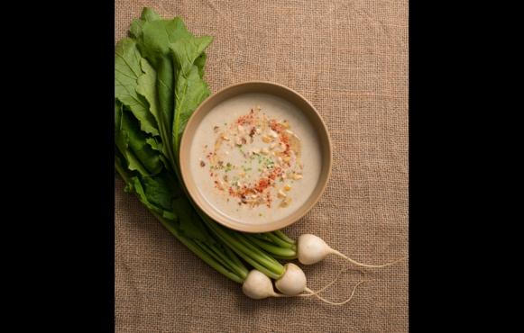 White Turnip and Hazelnut Soup