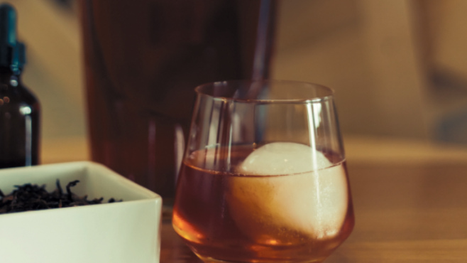 Tobacco Old-Fashioned Cocktail