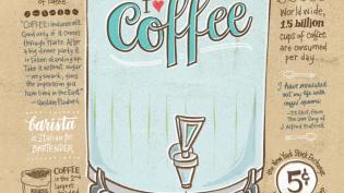 I Love Coffee Illustration
