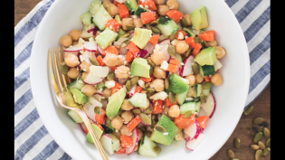 Fresh Chopped Salad with Chickpeas, Avocado and Pepitas