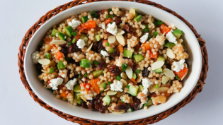 Orange and Dried Cherry Couscous Salad