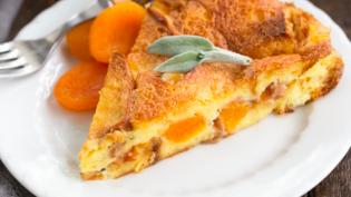Apricot Prosciutto Strata Recipe by Liz Berg