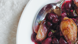 Cranberries with Brandied Shallots