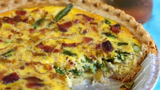 Bacon Asparagus Quiche