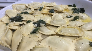 Sage and butter sauce by Andrea Bettini.