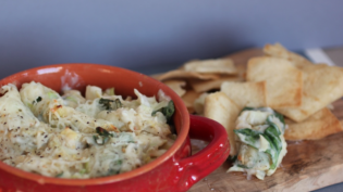 Spinach artichoke and white bean dip